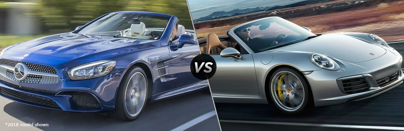 2019 Mercedes-Benz SL 450 vs 2019 Porsche 911 Carerra