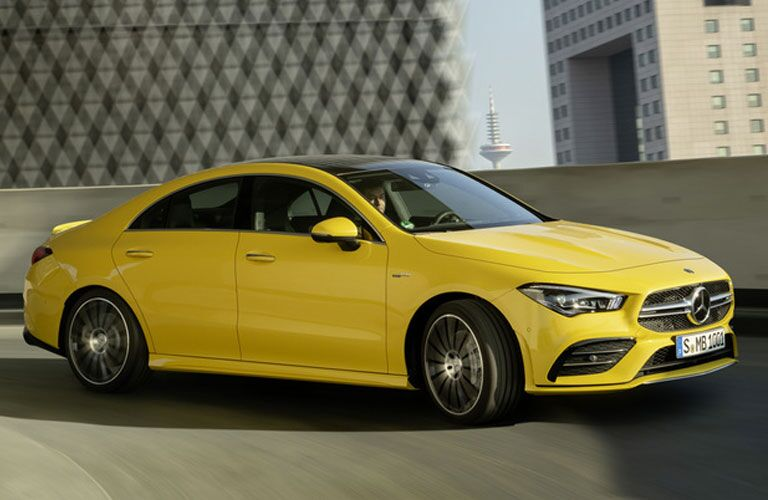2020 Mercedes-Benz AMG® CLA 35 Coupe on the road