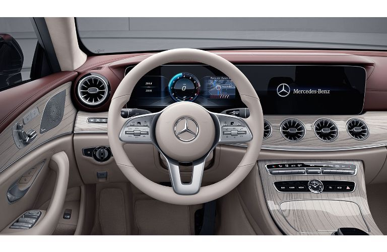 2020 Mercedes-Benz CLS interior view of driver side of front cabin light interior