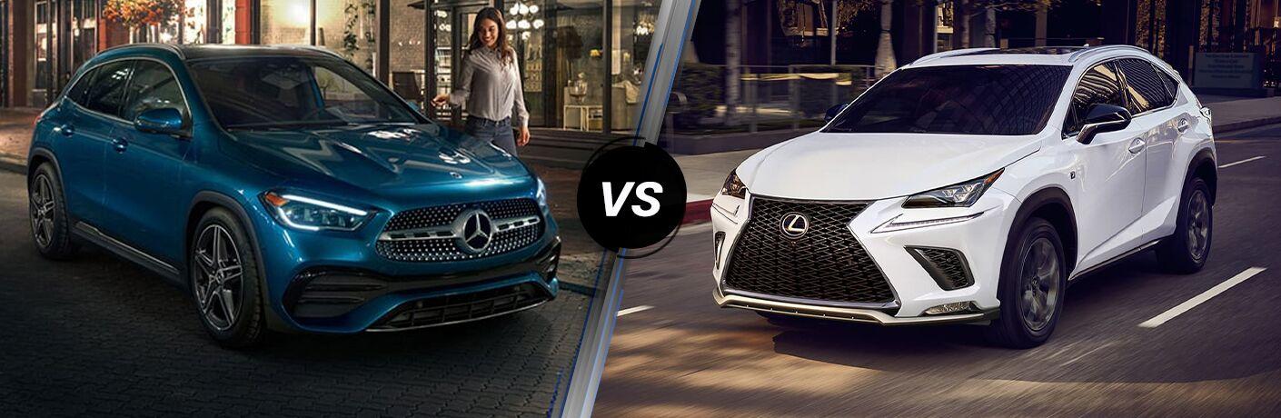 2021 Mercedes-Benz GLA vs 2021 Lexus NX