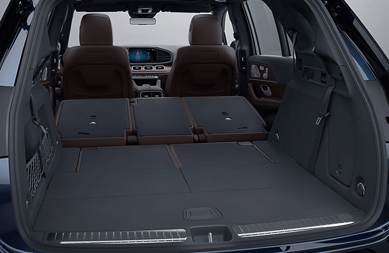 2021 Mercedes-Benz GLE SUV rear cargo area with seats folded