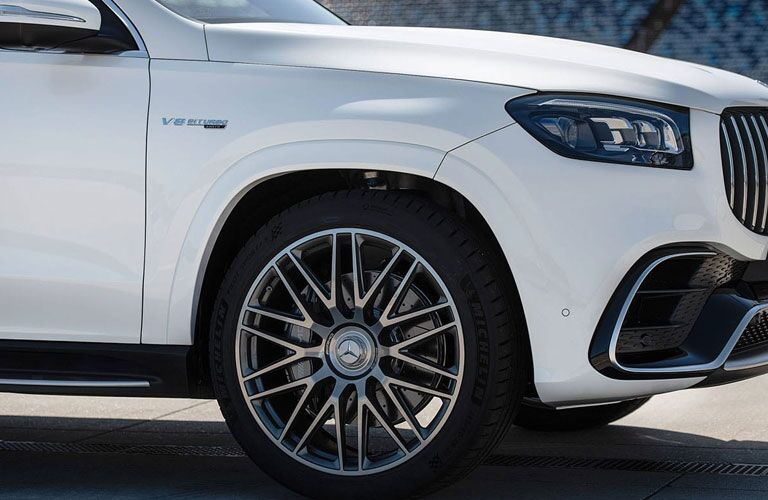 2021 Mercedes-Benz GLS front in white