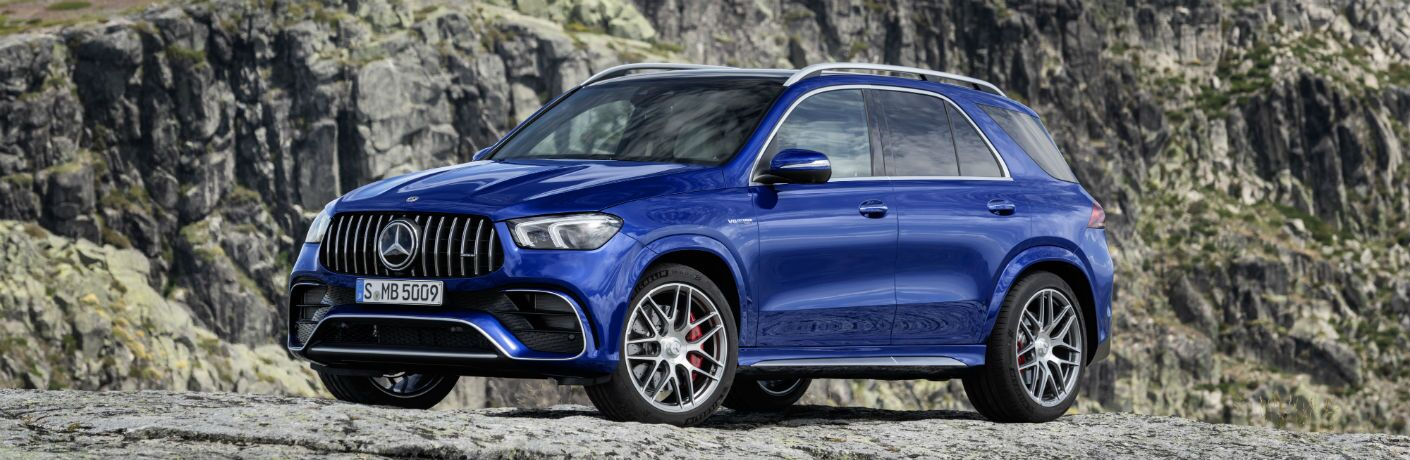 2021 Mercedes-Benz AMG® GLE 63 S on top of a mountain