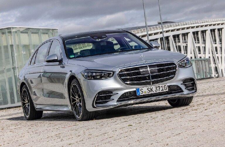 2021 Mercedes-Benz S-Class cruising down the road