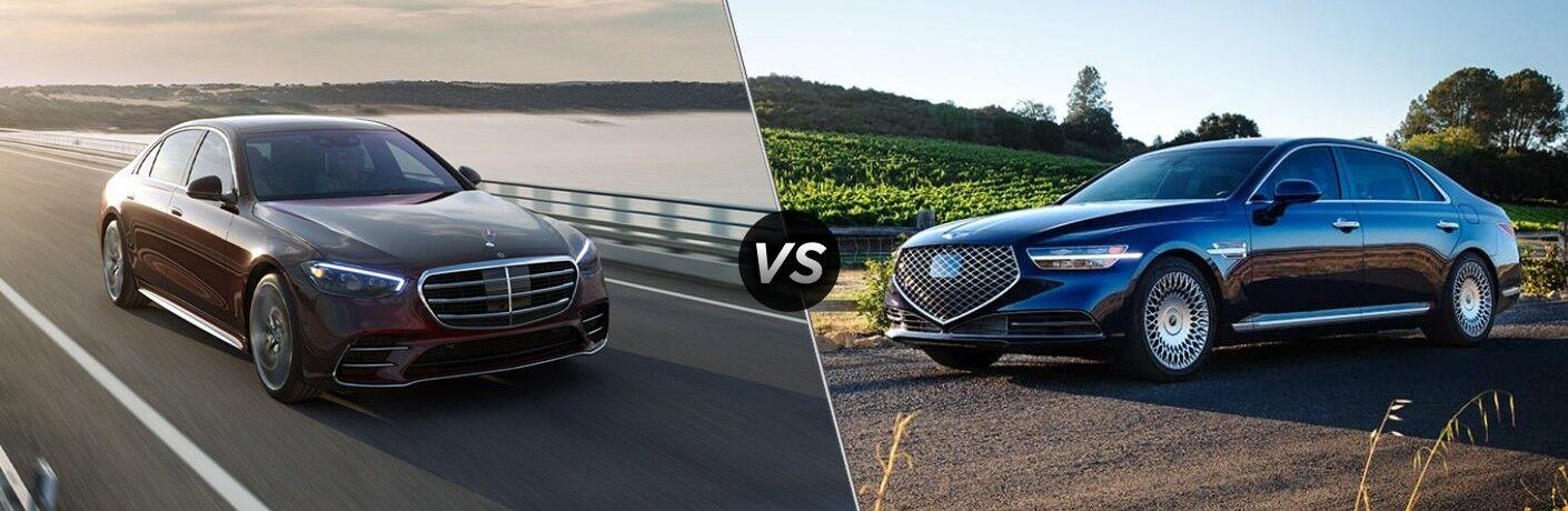 2021 Mercedes-Benz S-Class vs 2021 Genesis G90