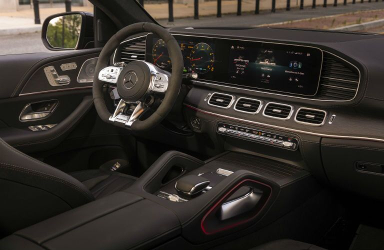A photo of the driver's cockpit in the 2021 Mercedes-AMG® GLE 53 Coupe.