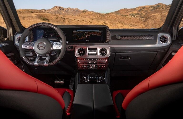 A photo of the dashboard in the 2021 Mercedes-AMG® G 63.