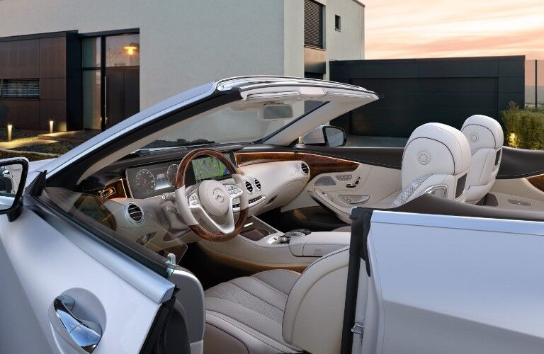 A look at the inside the driver's cockpit in the 2021 Mercedes-Benz S-Class Cabriolet.
