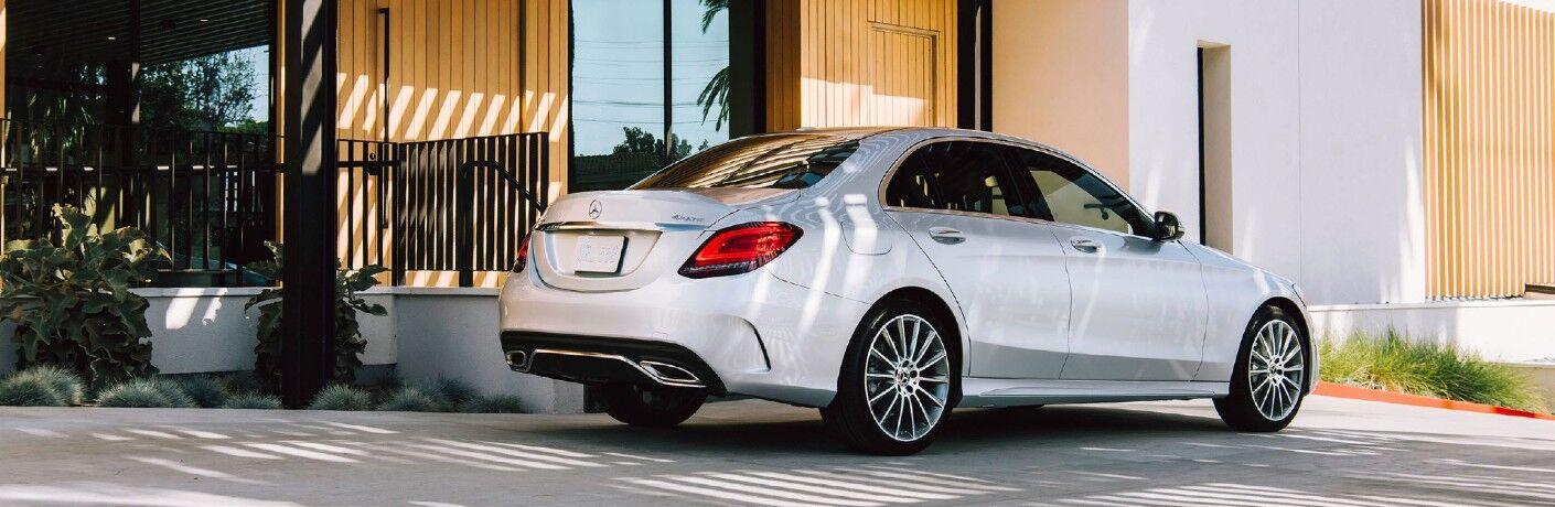 A rear right quarter photo of the 2021 Mercedes-Benz C 300 4MATIC®.