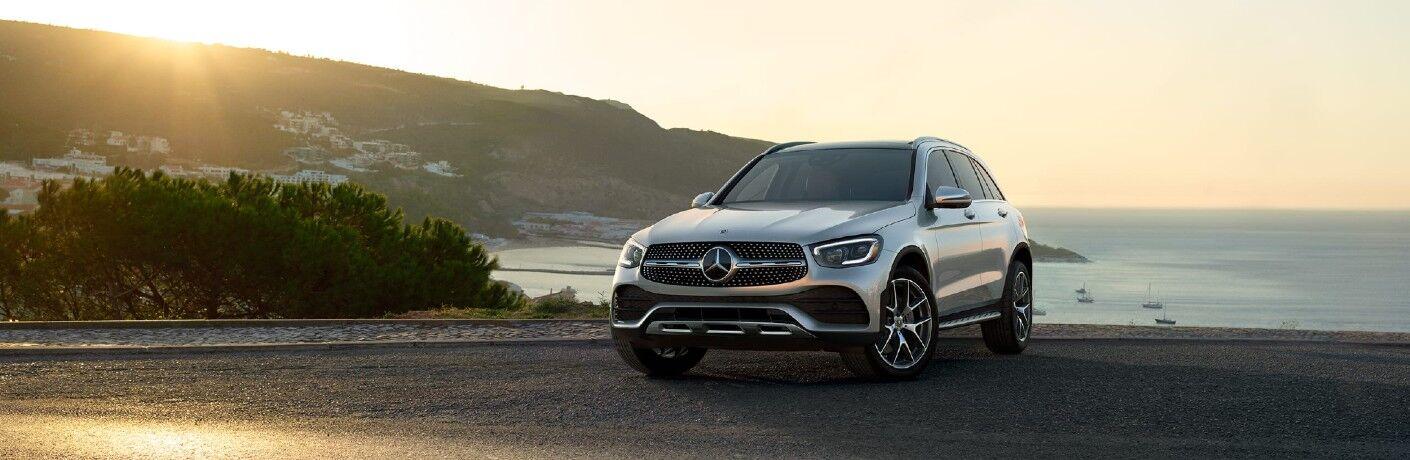 A front-left quarter photo of the 2021 Mercedes-Benz GLC 300 4MATIC®.