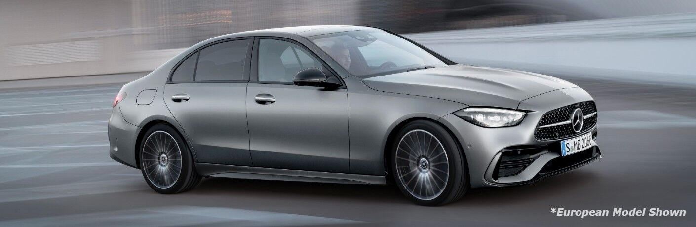 A right profile photo of the 2022 Mercedes-Benz C-Class Sedan.