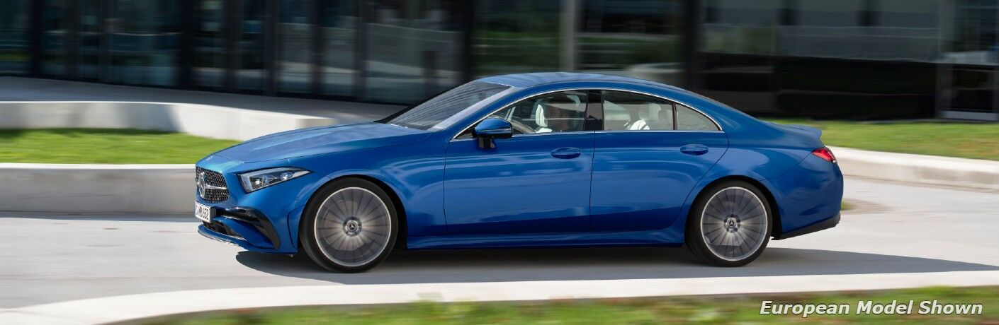 The 2022 Mercedes-Benz CLS 450 4MATIC® on the road.