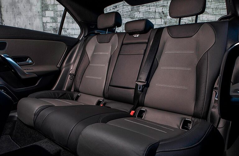 A photo of the rear seats in the 2021 Mercedes-Benz A-Class Sedan.