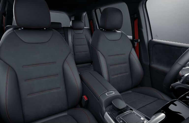 A photo of the front seats in the 2021 Mercedes-AMG® GLB 35.