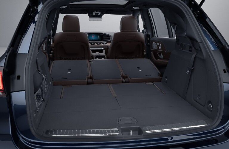 A photo of the maximum cargo volume configuration in the 2021 Mercedes-Benz GLE SUV.