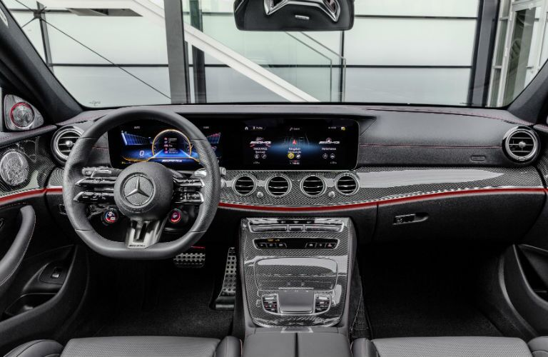 A photo of the dashboard in the 2021 Mercedes-AMG® E 53 Sedan.