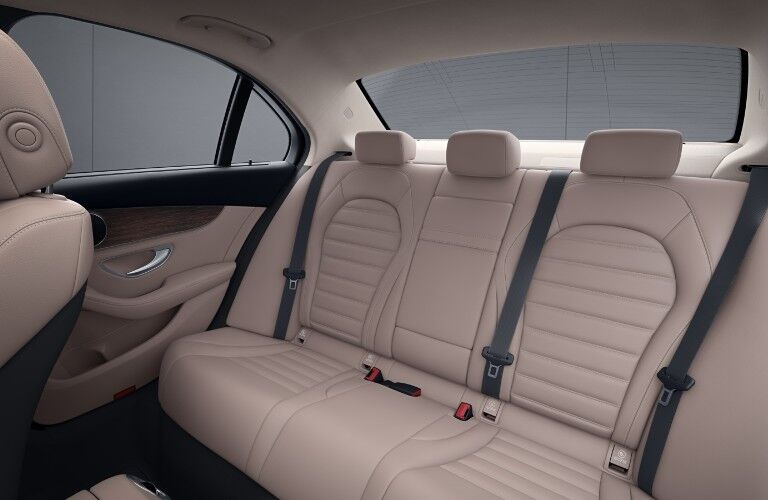A photo of the backseat in the 2021 Mercedes-Benz C 300 4MATIC®.