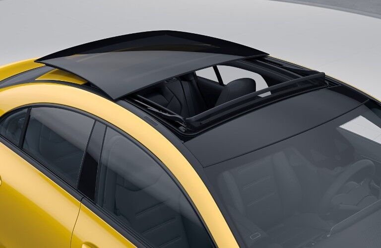 The panorama roof on the 2021 Mercedes-Benz CLA 250 4MATIC Coupe.