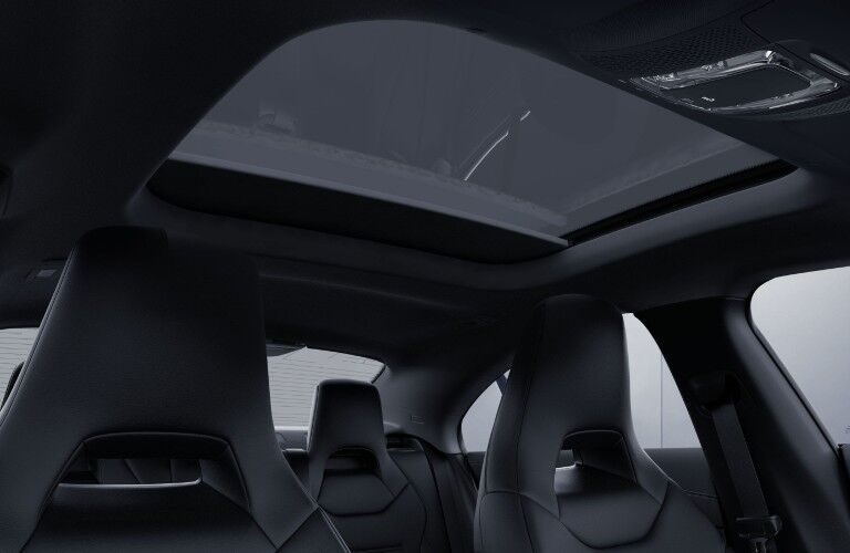 A photo of the available sunroof in the 2021 Mercedes-Benz CLA Coupe.