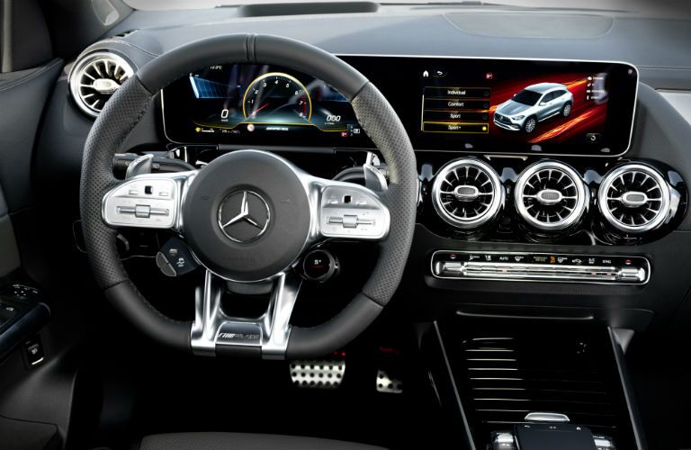A photo of the driver's cockpit in the 2021 Mercedes-Benz 250 4MATIC®.