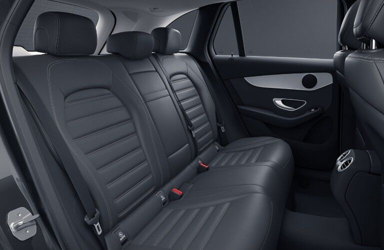 A photo of the rear seats in the 2021 Mercedes-Benz GLC 300 4MATIC®.