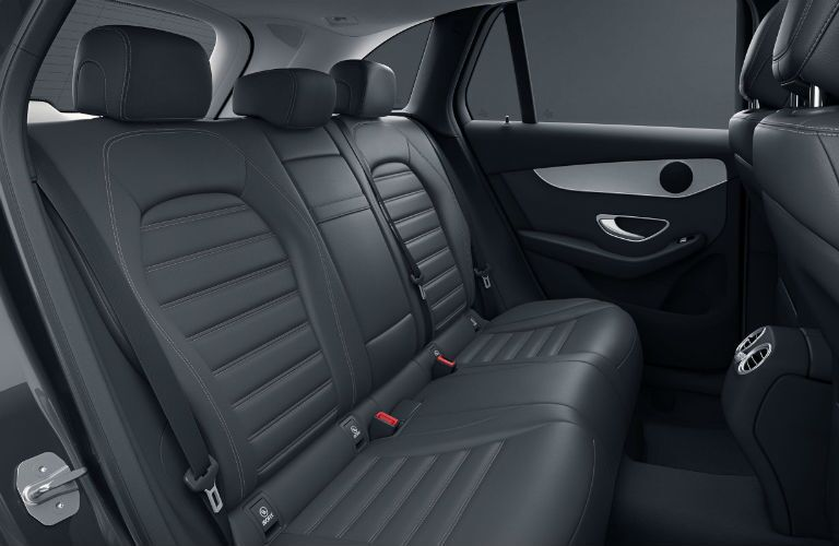 A photo of the rear seats in the 2021 Mercedes-Benz GLC 300.