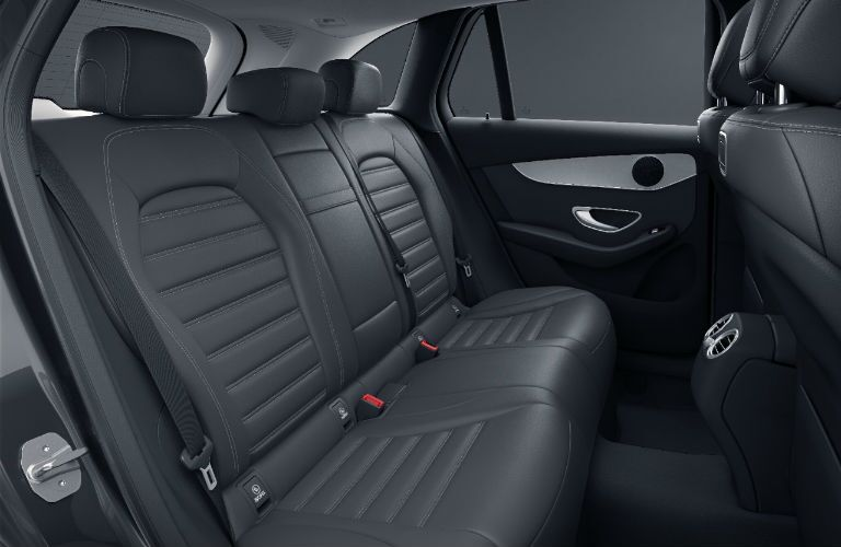 A photo of the rear seats in the 2021 Mercedes-Benz GLC SUV.