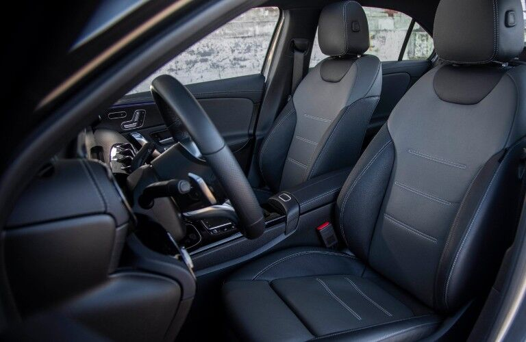 A photo of the front seats in the 2021 Mercedes-Benz A 220.