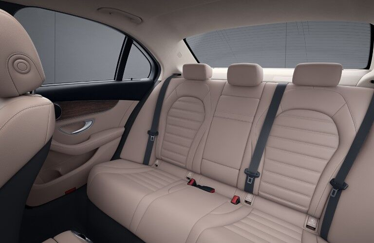 A photo of the rear seats in the 2021 Mercedes-Benz C 300 Sedan.