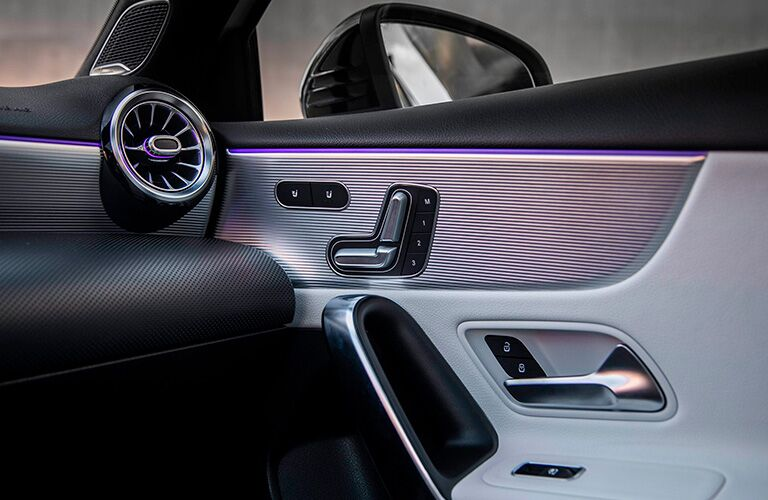 A photo of the door panel used in a 2020 Mercedes-Benz A-Class Sedan.