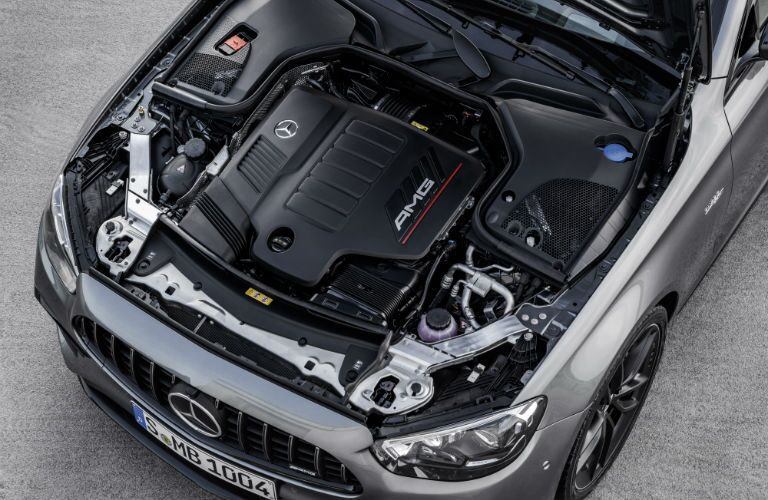 A photo of the engine used by the 2021 Mercedes-AMG® E 53 Sedan.