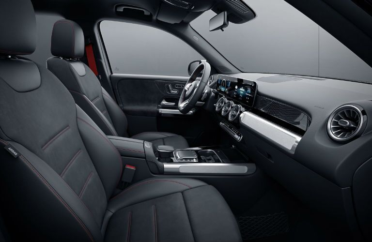 Another photo of the front seats in the 2021 Mercedes-AMG® GLB 35.