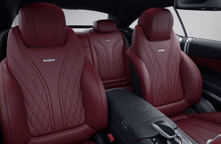 A photo of the front and back seats in the 2021 Mercedes-AMG® S 63.