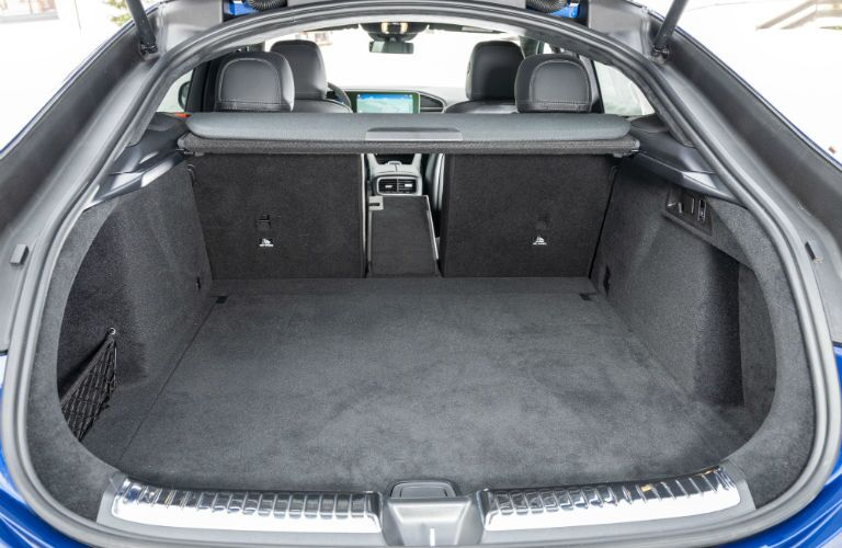 A photo of the cargo area in the back of the 2021 Mercedes-AMG® GLE 53 Coupe.