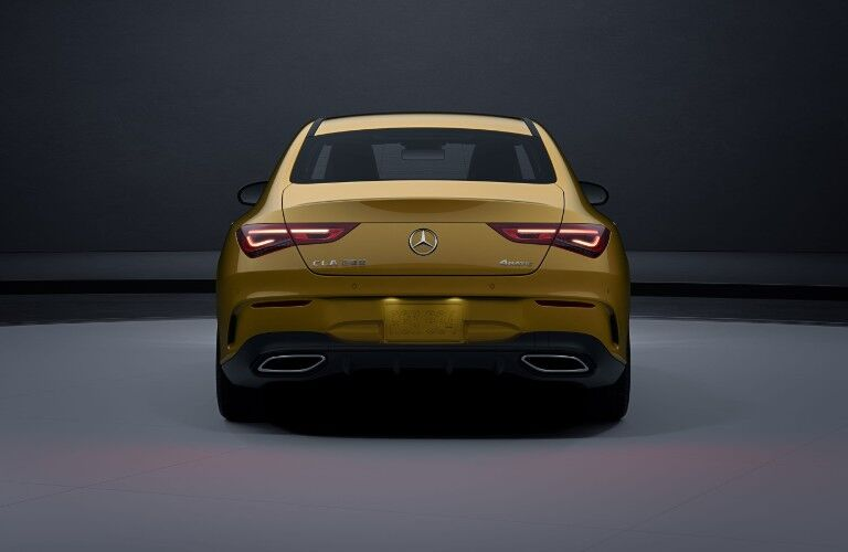 A rear photo of the 2021 Mercedes-Benz CLA 250 4MATIC Coupe.