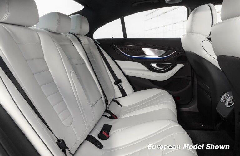 The rear seats in the 2022 Mercedes-Benz CLS 450 4MATIC® Coupe.
