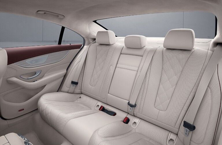 The back seats in the 2021 Mercedes-Benz CLS 450 Coupe.