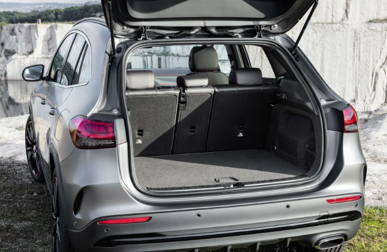 A photo of the cargo volume of the in the 2021 Mercedes-Benz GLA 250 4MATIC®.