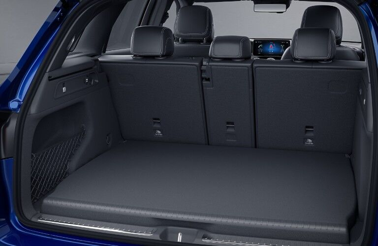 A photo of the cargo area in the back of the 2021 Mercedes-Benz GLC 300 4MATIC®.