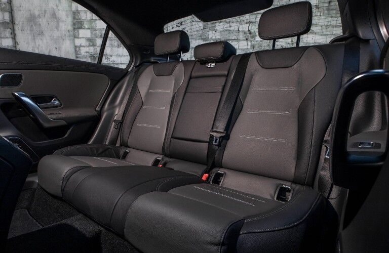 A photo of the rear seats in the 2021 Mercedes-Benz A 220.