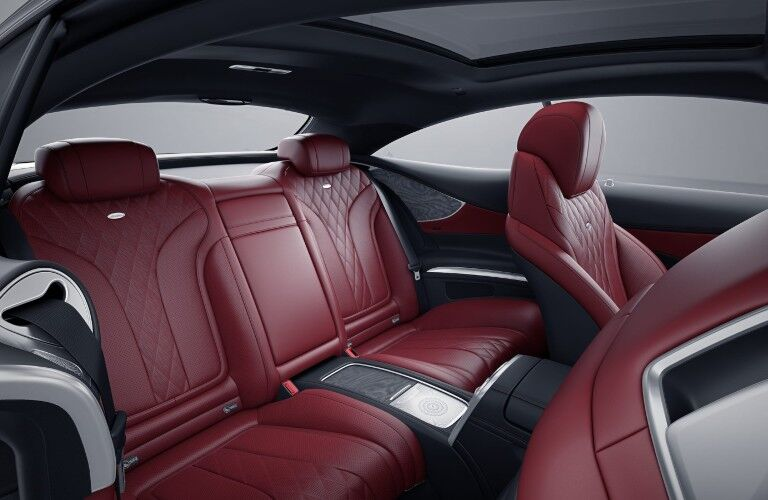 The rear seats in the 2021 Mercedes-Benz S 560 Coupe 4MATIC®.