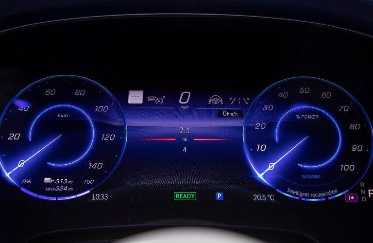 The digital gauge cluster in the 2022 Mercedes-Benz EQS.