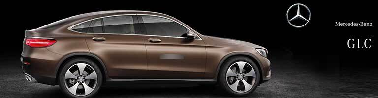brown 2019 Mercedes-Benz GLC Coupe with wording on right side of image