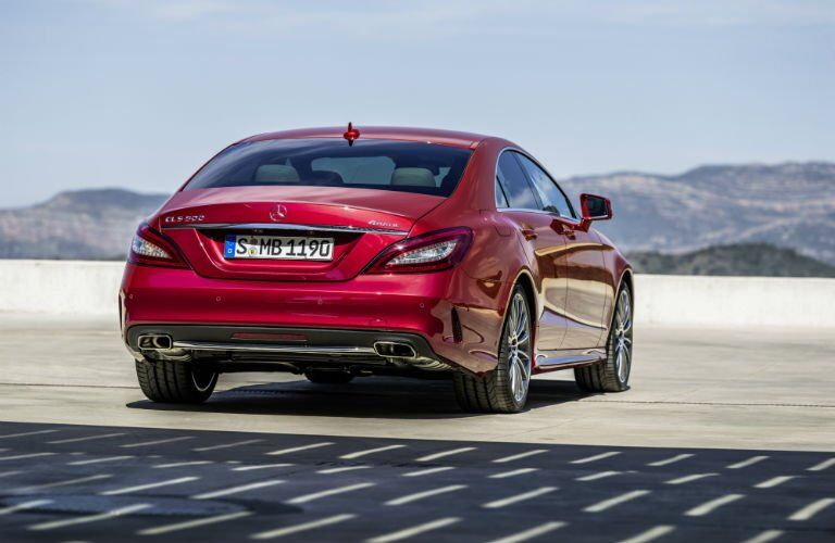 2017 Mercedes-Benz CLS Coupe Exterior Rear Profile