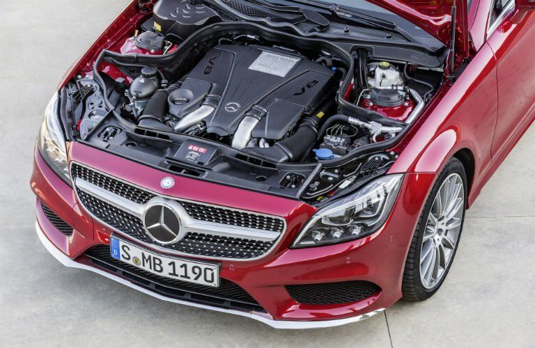 2017 Mercedes-Benz CLS Coupe Engine Bay