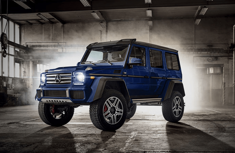 2018 Mercedes-Benz G 550 in a warehouse
