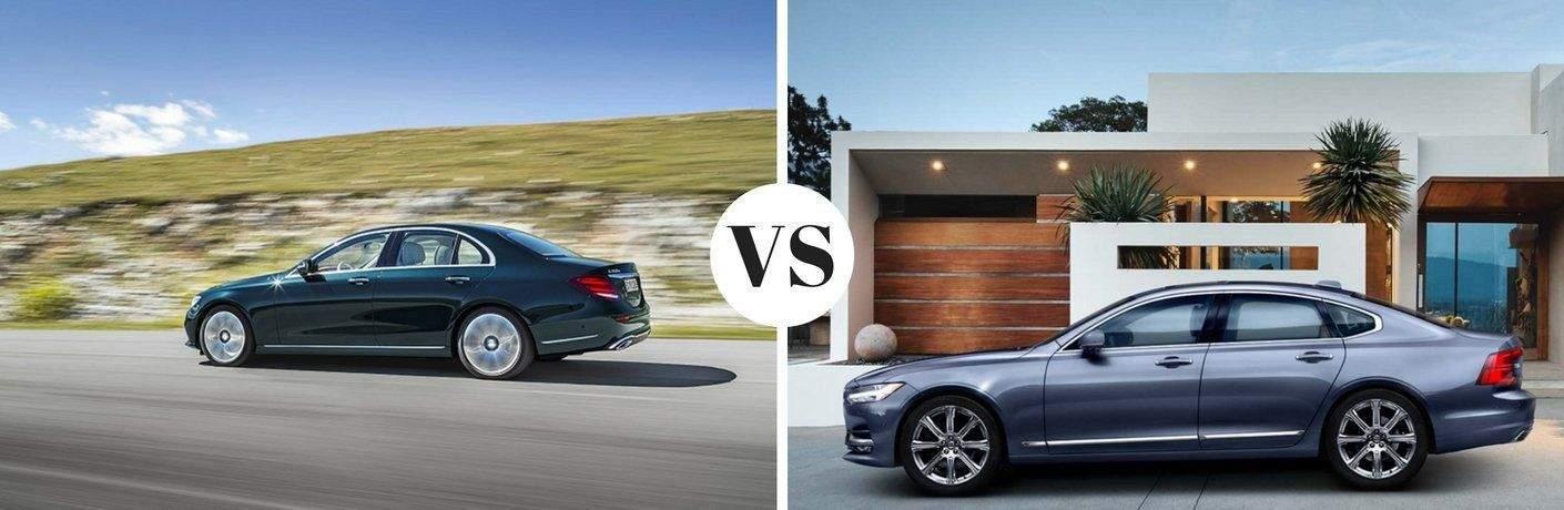 2017 Mercedes-Benz E 300 4MATIC vs 2017 Volvo S90