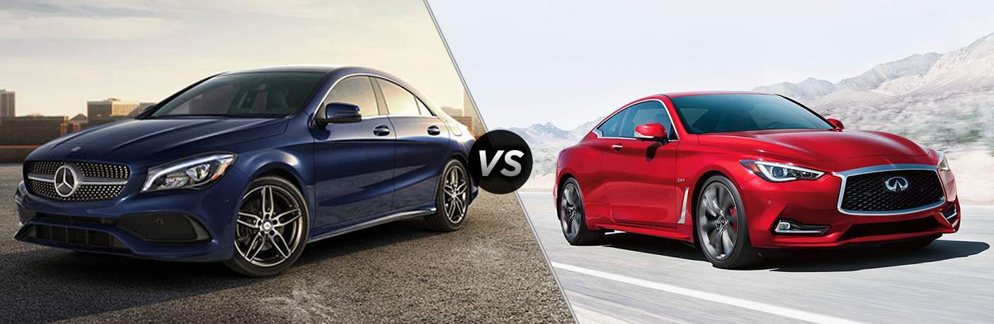 2018 Mercedes-Benz CLA 250 vs 2018 INFINITI Q60