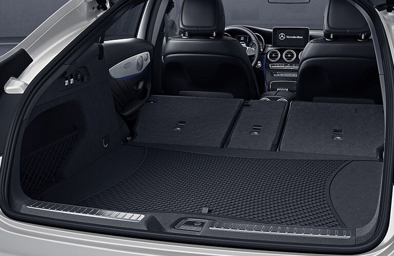 2019 Mercedes-Benz GLC Coupe with rear seats folded down