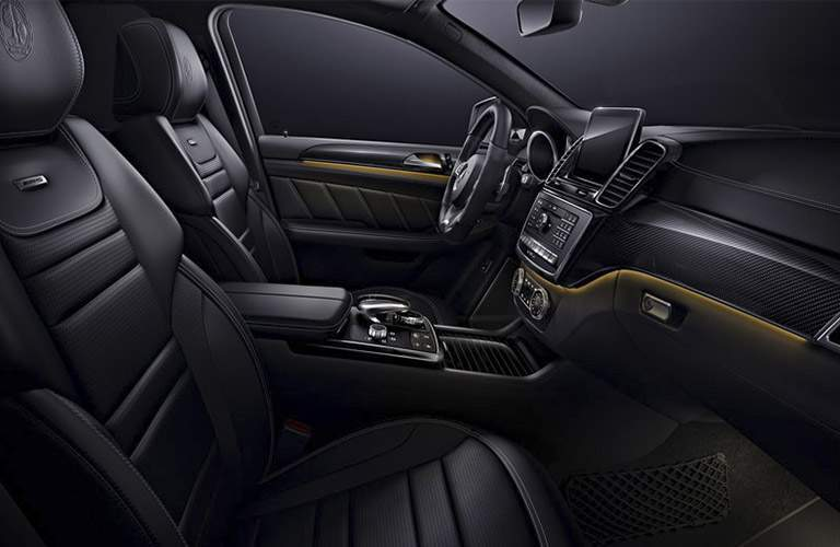 2017 Mercedes-Benz GLE Coupe SUV front interior passenger space